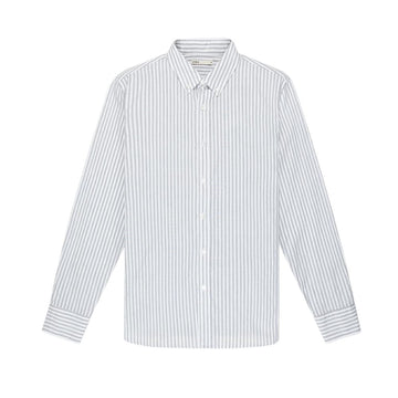 LS Shirt Adrian Striped Oxford Grey Stripe