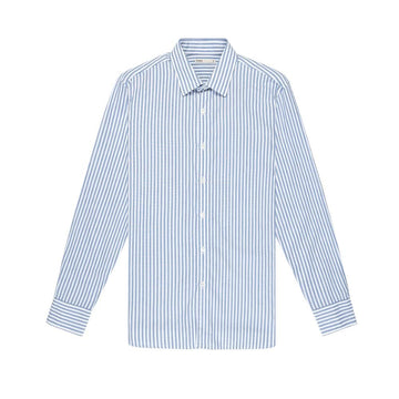 LS Shirt Adrian Striped Oxford Blue Stripe