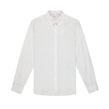 LS Shirt Adrian Striped Oxford Khaki Stripe