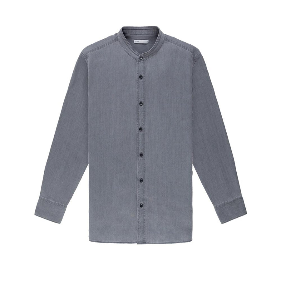 AW20 LS Shirt Aleks Denim Grey