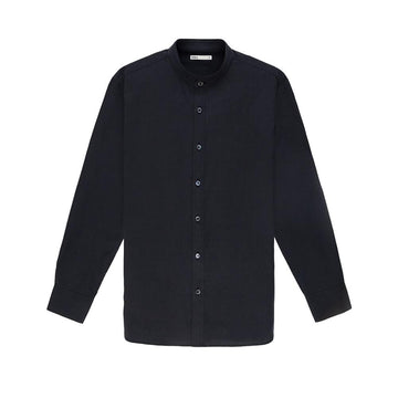 LS Shirt Aleks Silk Black
