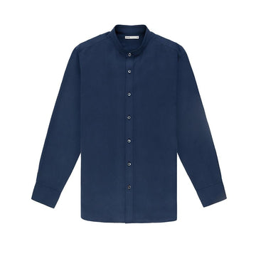 LS Shirt Aleks Silk Navy