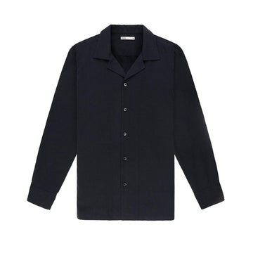 LS Shirt Rockaway Long Sleeve Silk Black