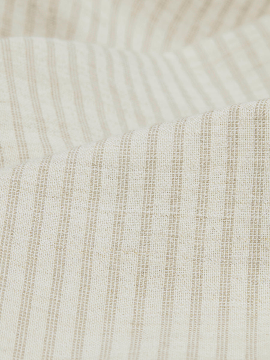 Alston Striped Cotton Linen Blend Natural