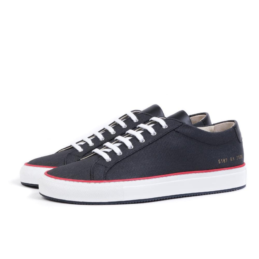 Achilles in Canvas Black/ Red (men)