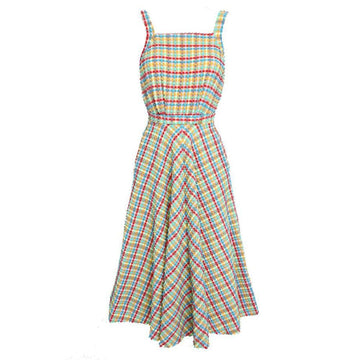 Artemis Beachwear Dress Yellow Gingham