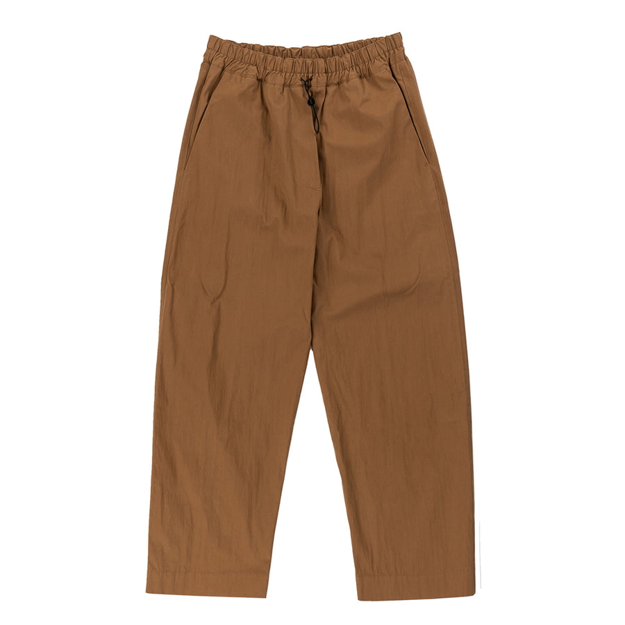 Curved Leg Elasticated Pant Cognac