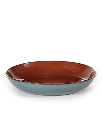 Pasta Plate Rust/Smokey Blue