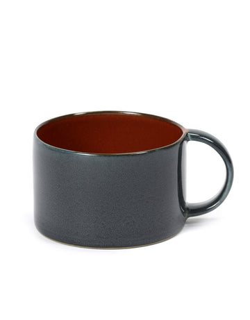 Coffee Cup Rust/Dark Blue