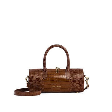 Boston Baguette Brown Croco