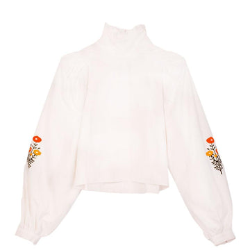 Carnation Top Off White