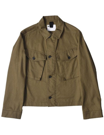Cropped Army Jacket Japanese Drill Khaki (Men)