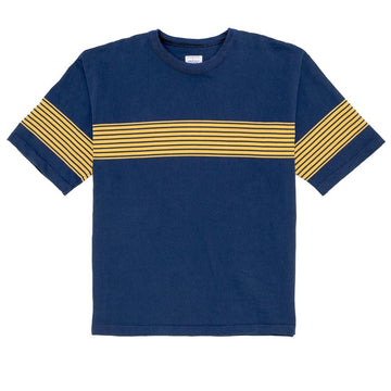 Drop Out Sports Stripe Tee Navy Yellow