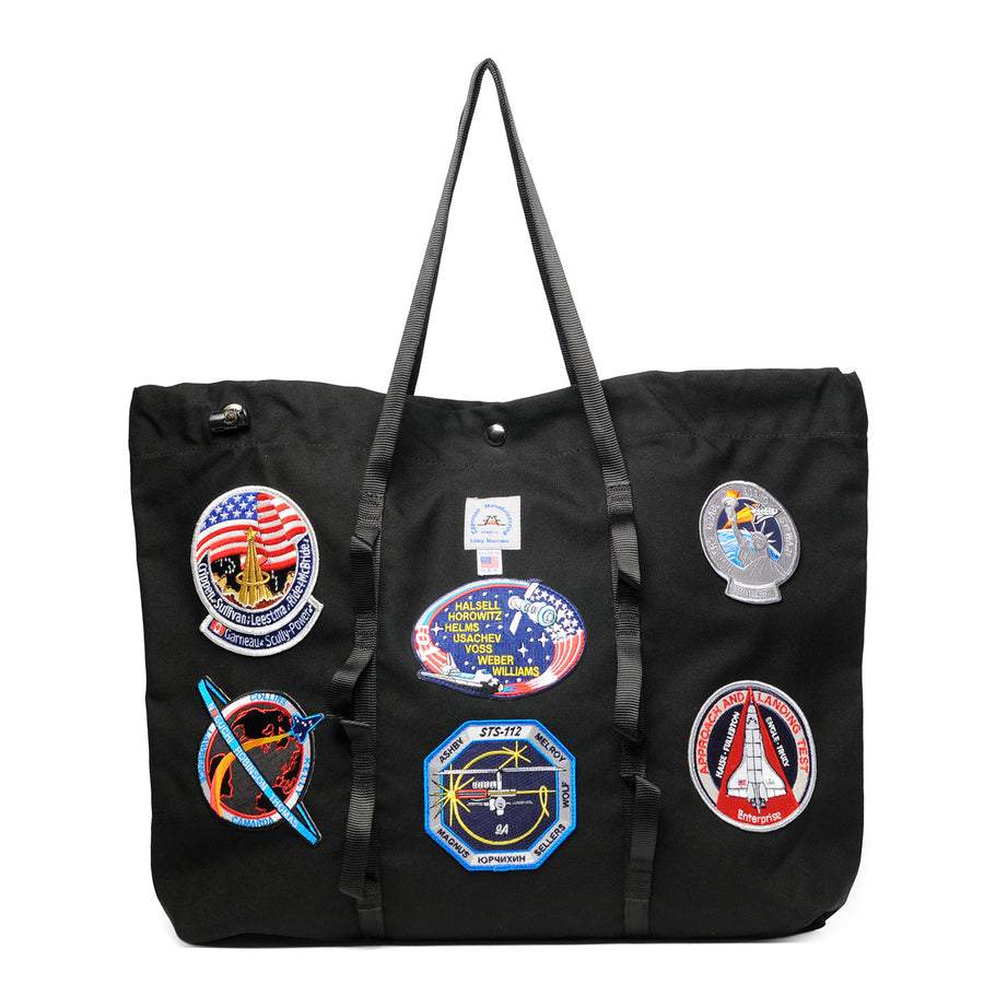 Climb Tote W/Vintage Nasa Patch Black L