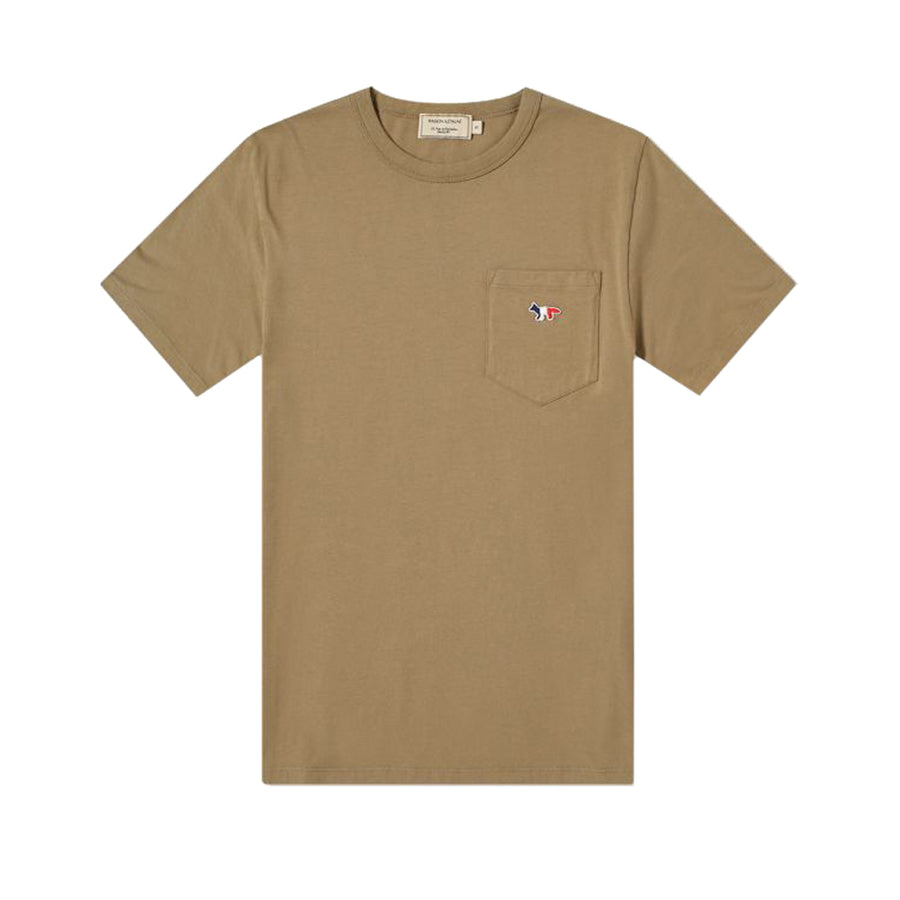 Tee-Shirt Tricolor Fox Patch Light Khaki (Women)