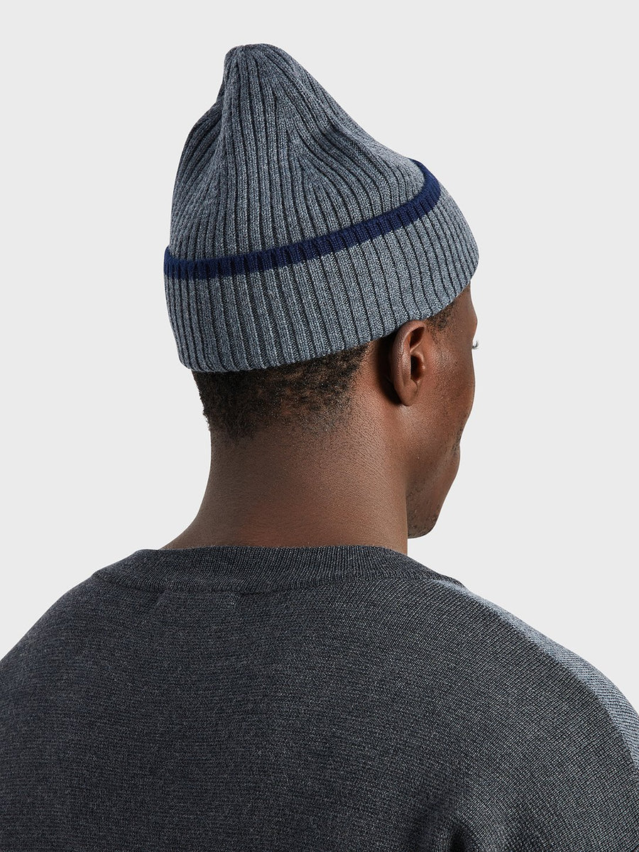 Beanie Beverly Wool Charcoal Heather OS