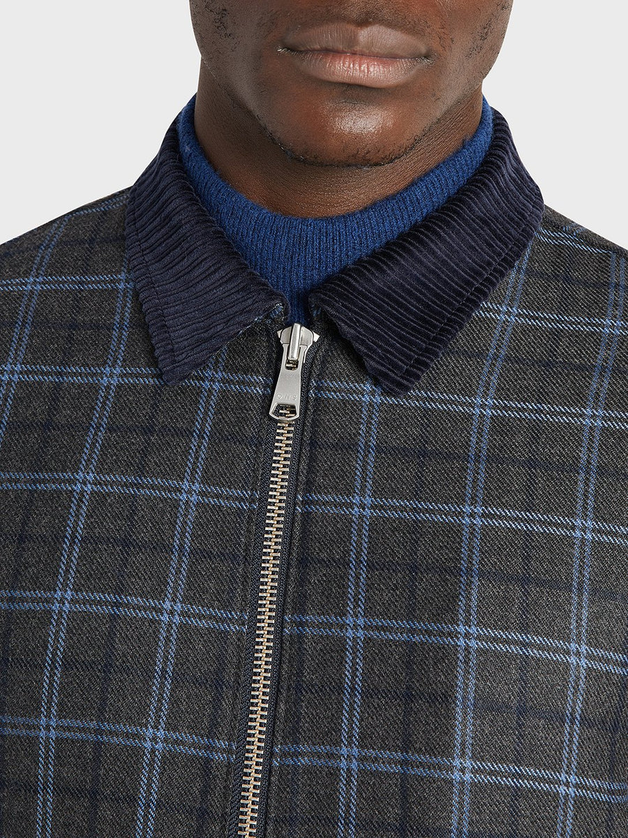 AW20 Jacket Connor Wool DK Grey Check
