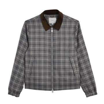 AW20 Jacket Connor Wool Lt Grey Check