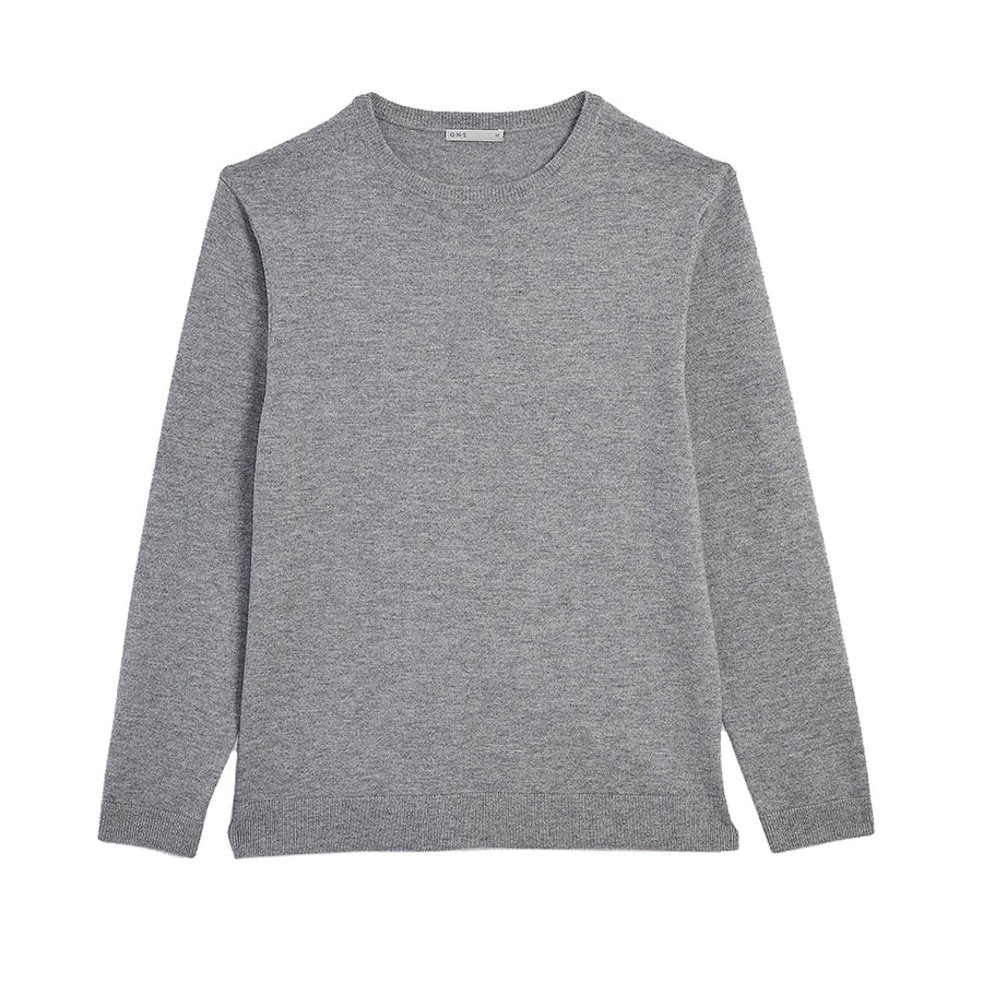 AW20 LS Sweater Ivy Grey