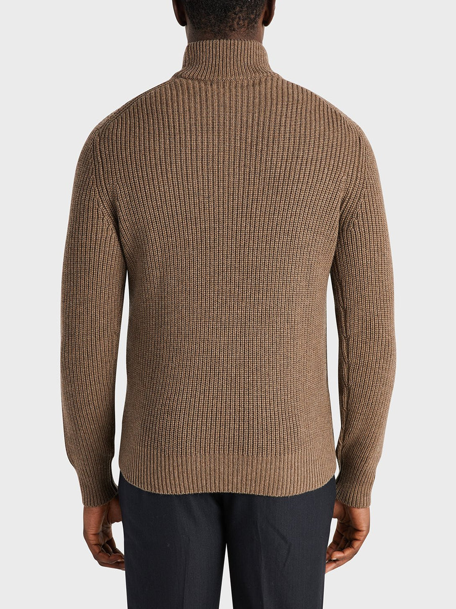 AW20 LS Sweater Acton Mock Neck Coffee
