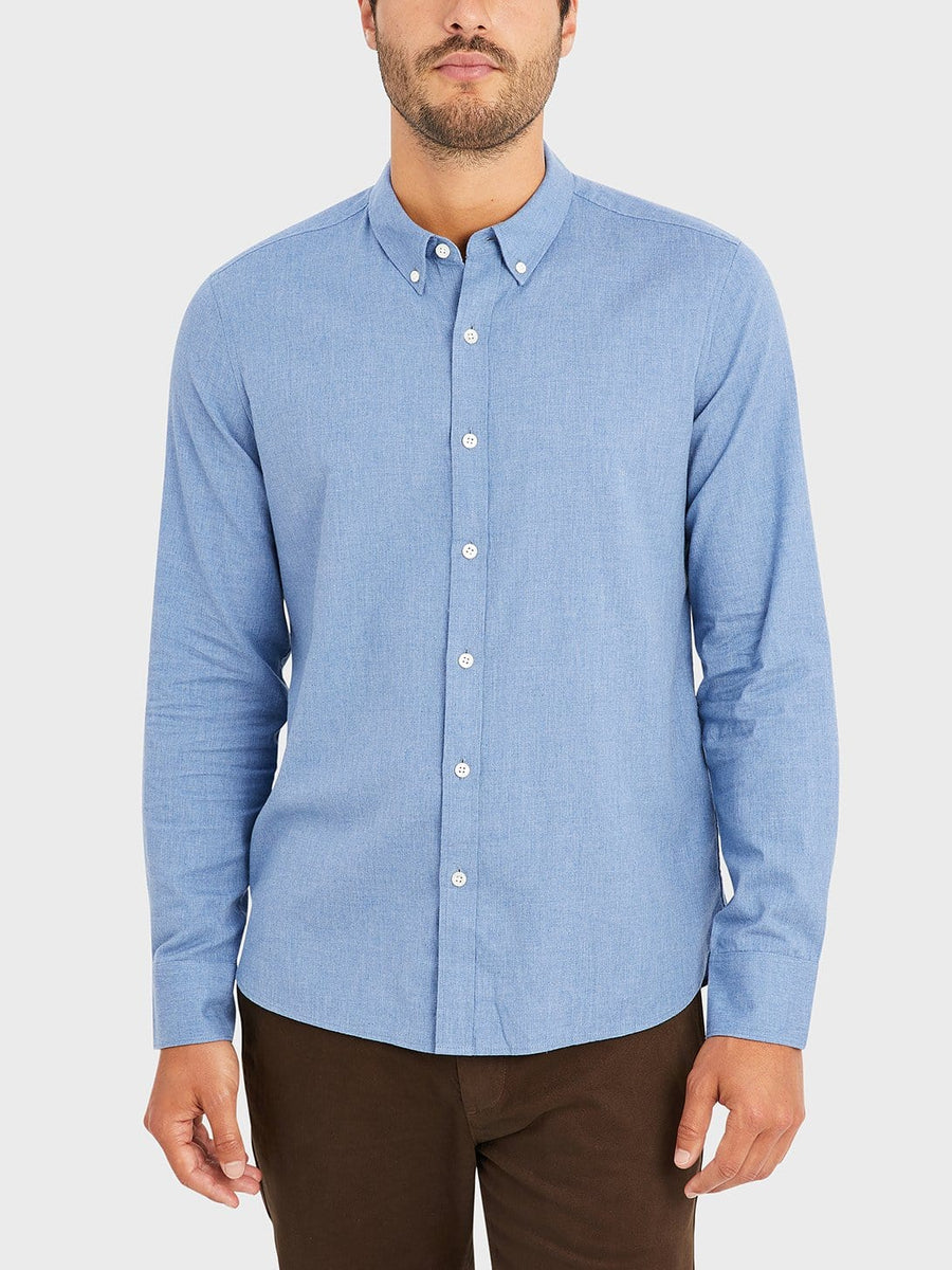 AW20 LS Shirt Fulton Peached Oxford Cobalt Blue