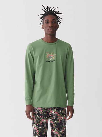 Lazy Oaf Flower Vase Long Sleeve Tee Green