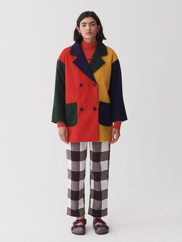 Grow Your Own Colour Block Coat Multi