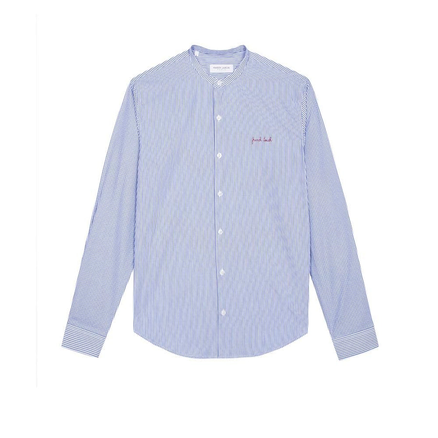 Mao Shirt French Touch Blue White (Men)