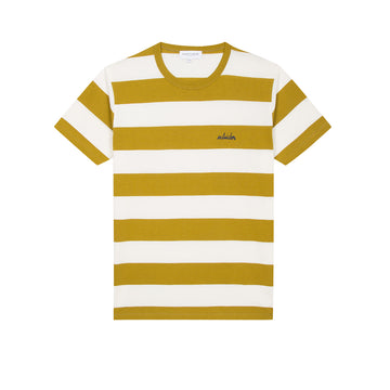 Striped T-Shirt SS Outsider Havana Off White (Men)