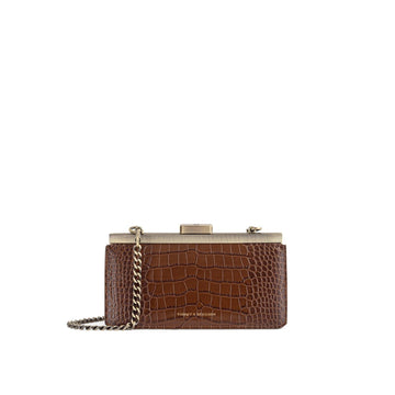 Jeanne Baguette Brown Croco