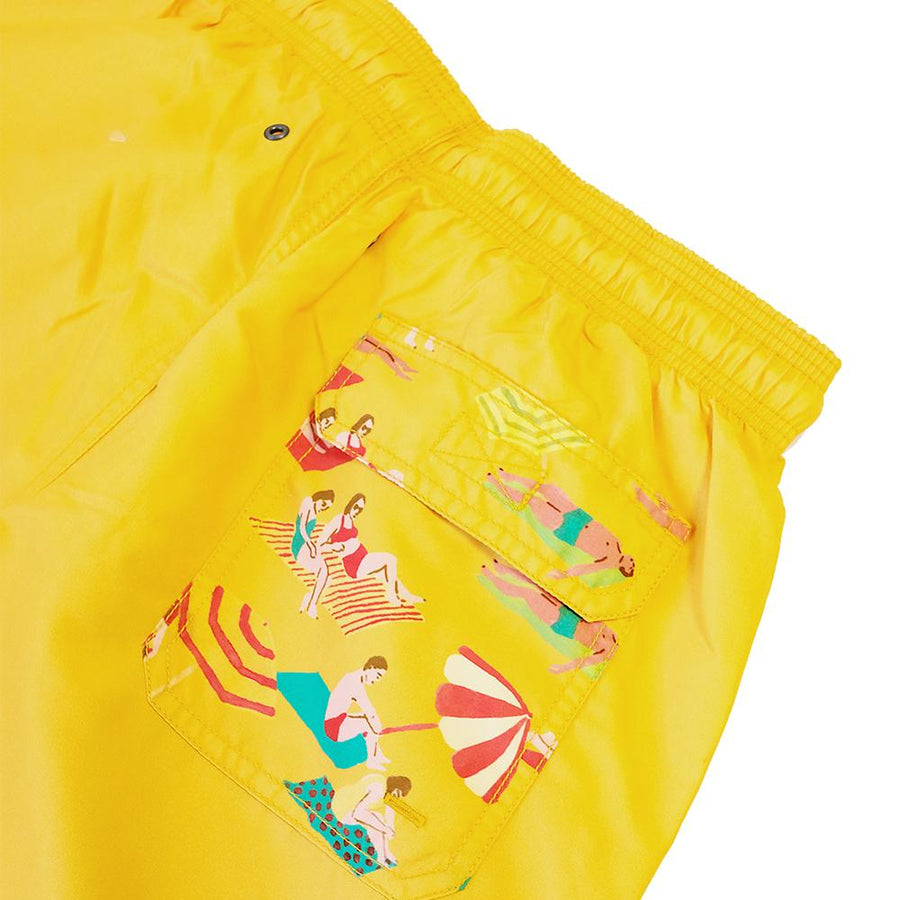 O.N.S x Leah Goren Sol Swim Short Yellow