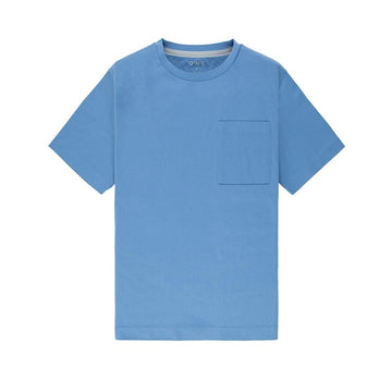 SS Tee Baseile Pocket Crew Neck Blue