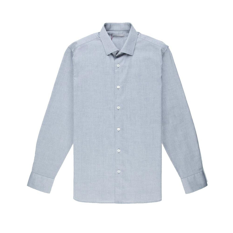 O.N.S AW20 LS Shirt Pinpoint Oxford Spread Collar Grey