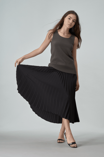 Mason Womens Pleat Skirt Black