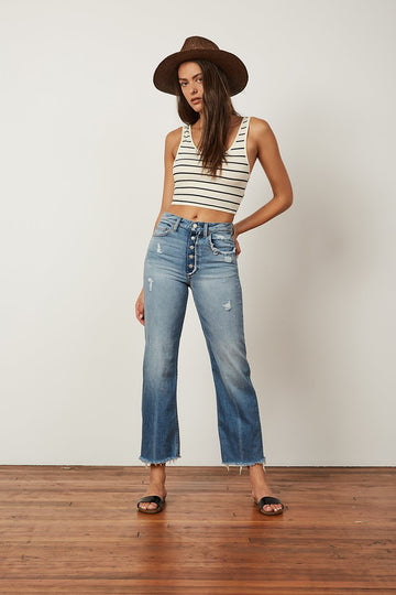Mikey Crop Flare Jean Two For The Road