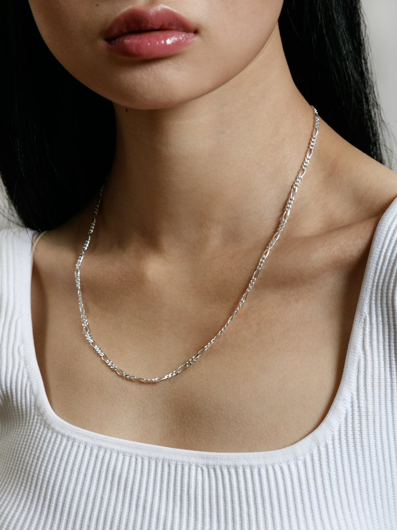 Mila Figaro Chain Necklace 20'' S Silver Chain