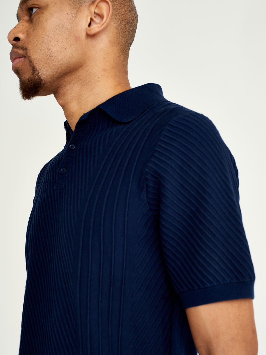 Naples Polo Stretch Cotton Navy