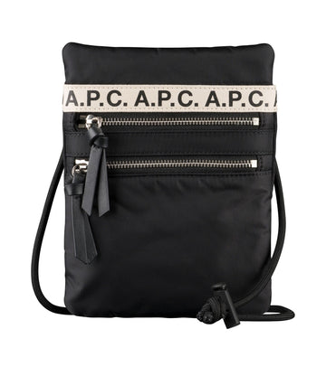 Repeat Neck Pouch Black