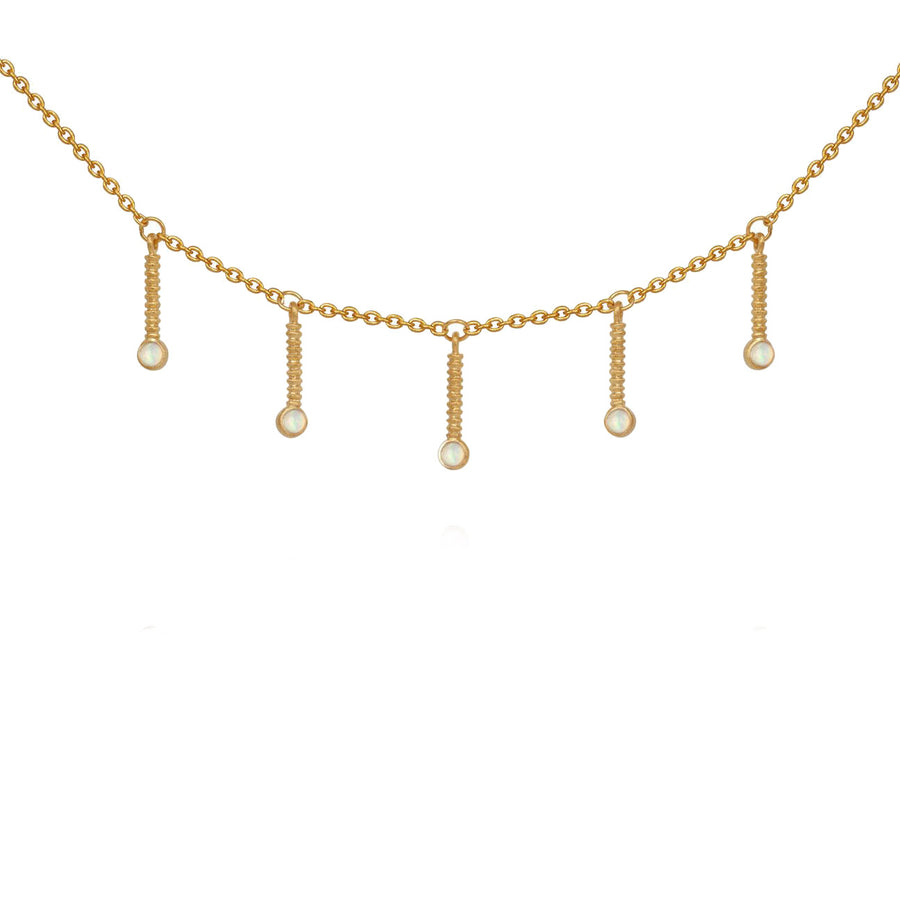 Opal Luna Necklace Gold