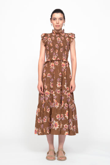 Sylvie Smocking Dress Toffee