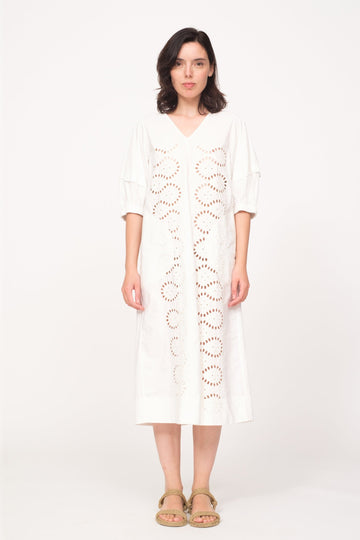 Marina Relaxed Midi White