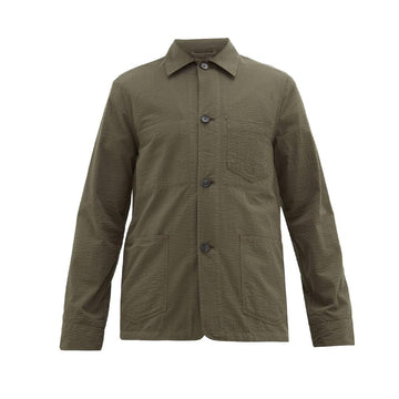 Chore Jacket Co Seersucker Olive
