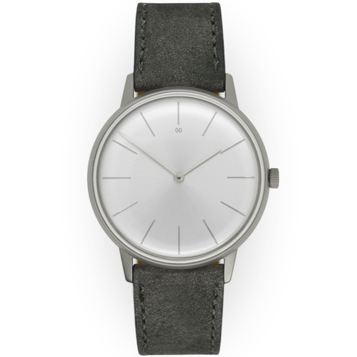 Dress Watch Silver / Light Silver Dial Slate Nubuck