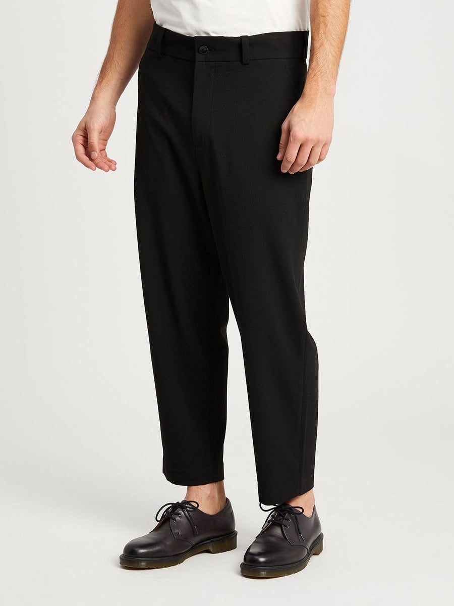 Pants Astor Puckered Trouser Jet Black