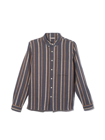 LS Shirt Vance Stripe Blue Stripe