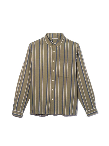 LS Shirt Vance Stripe Green Stripe
