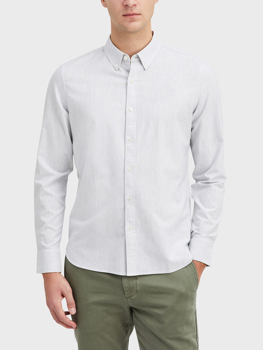 Fulton Heather Oxford Shirt LS Grey Heather