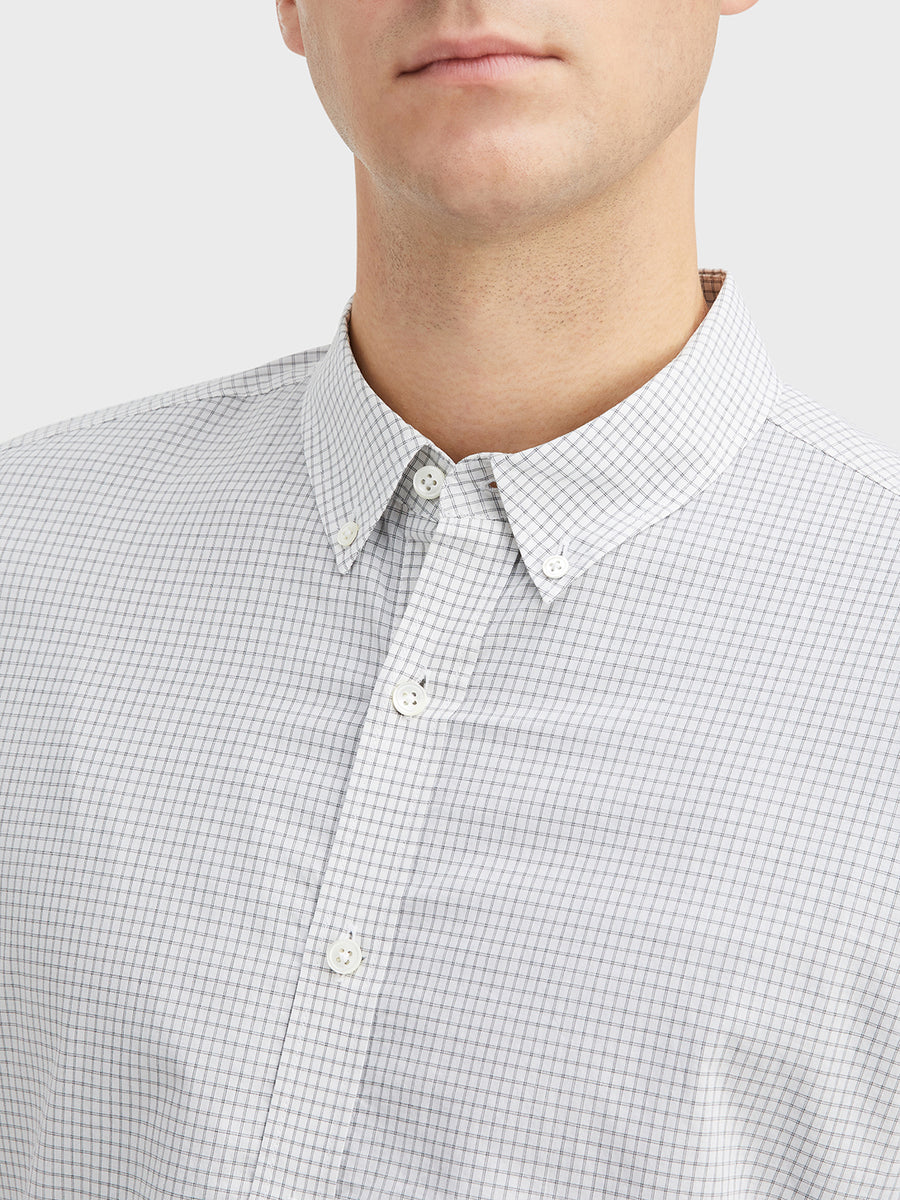 Fulton Check Shirt LS Black& White C