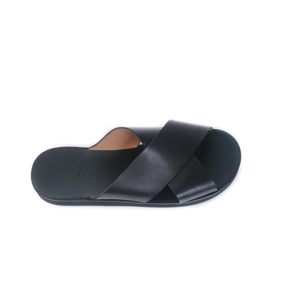 Flat sandals Birdy-H-Mic Prin. Black (Men)