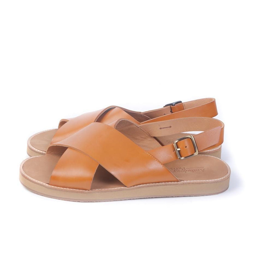 Flat sandals Birmanie-H-Mic Prin.Camel (Men)